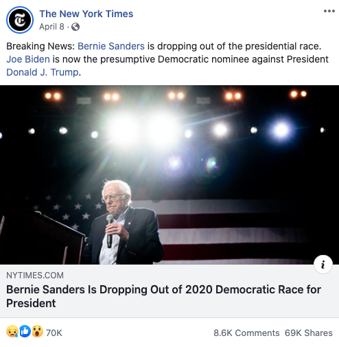 Image of The New York Times' Facebook post from 20200408