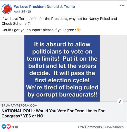 Image of We Love President Donald J. Trump's post from 20200526 attacking Democrats