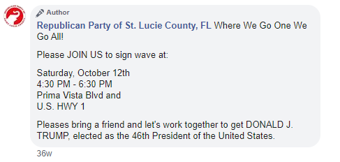 Republican Party of St. Lucie County QAnon post 2