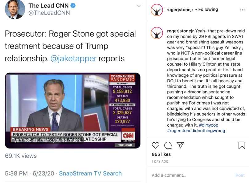 Roger Stone calls for Aaron Zelinsky to be charged with crimes