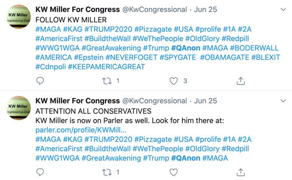 K.W. Miller QAnon Twitter