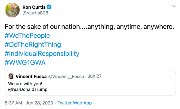 Ron Curtis QAnon Twitter