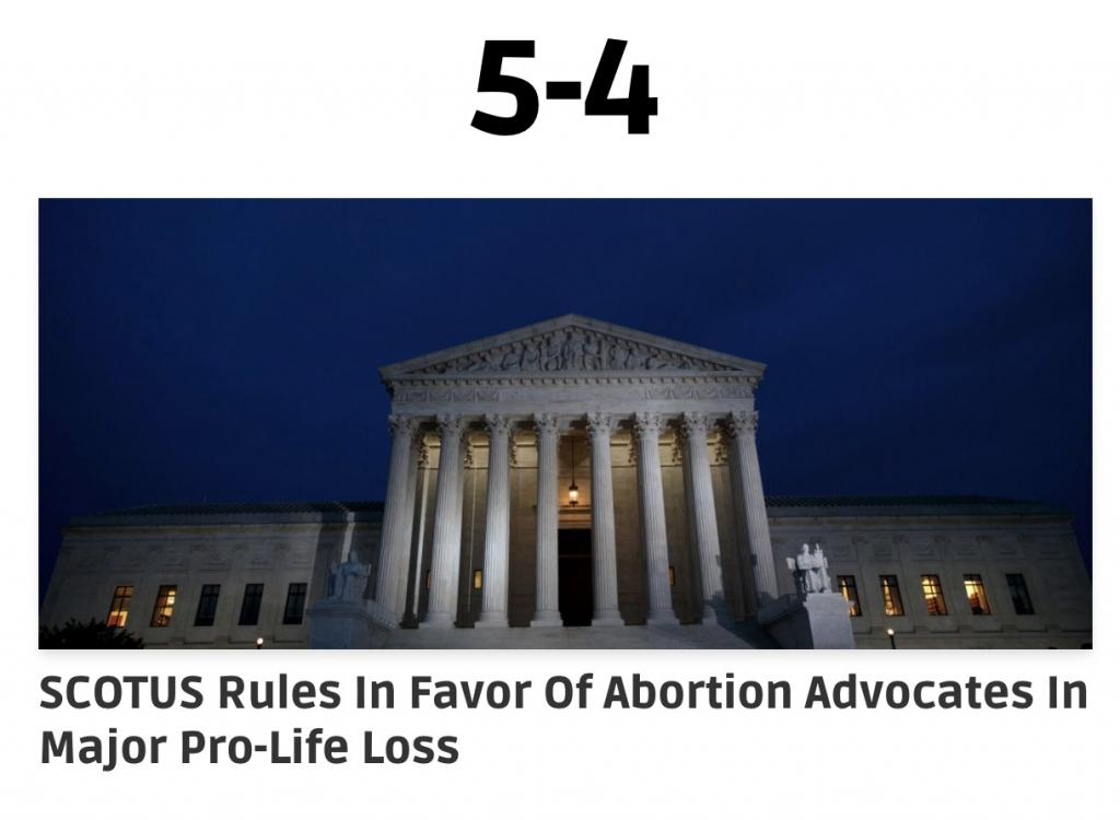Daily Caller SCOTUS abortion 6/29/20