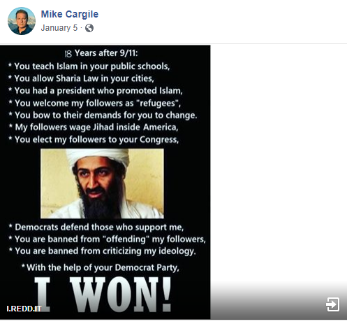 Mike Cargile bin Laden meme
