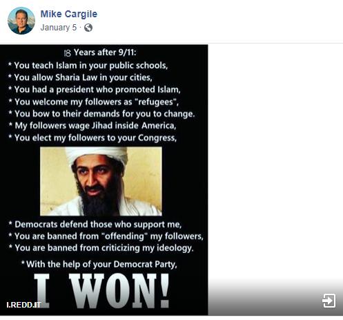 Mike Cargile bin Laden meme
