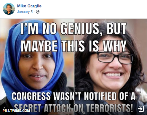Mike Cargile Muslims in Congress