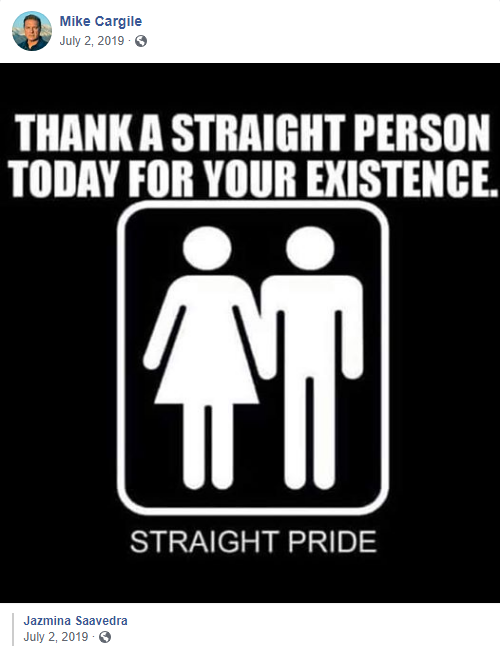 "Mike Cargile ""straight pride"""