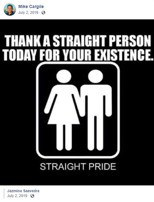 "Mike Cargile ""straight pride"""
