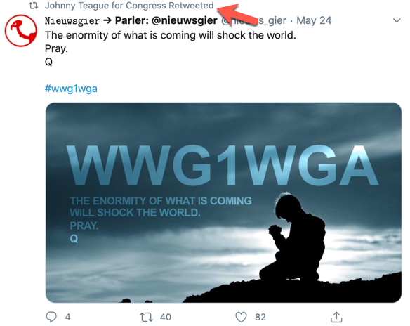 Johnny Teague QAnon Twitter1
