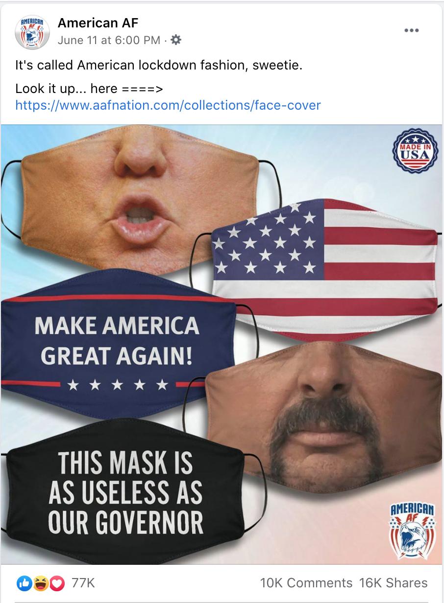 American AF masks