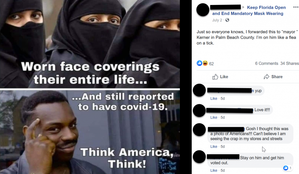 Keep Florida Open and End Mandatory Mask Wearing Facebook post screenshot 3