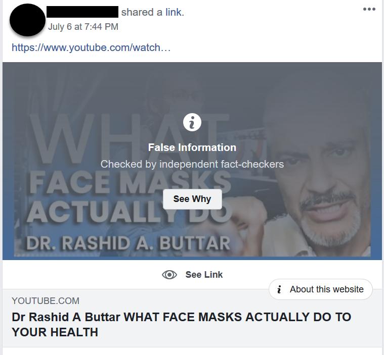No Mask High Five Challenge Facebook post screenshot 2