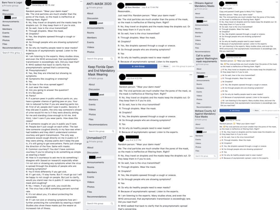 Image of posts on group pages