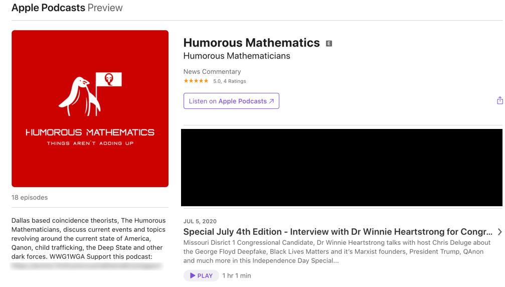 Humorous Mathematics QAnon podcast