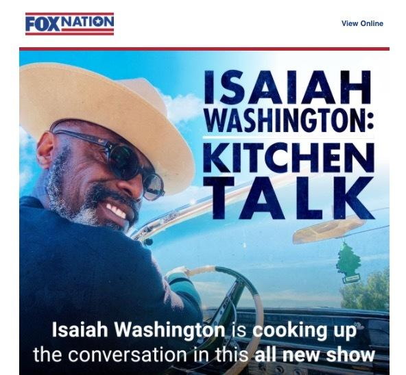 Isaiah Washington Fox Nation