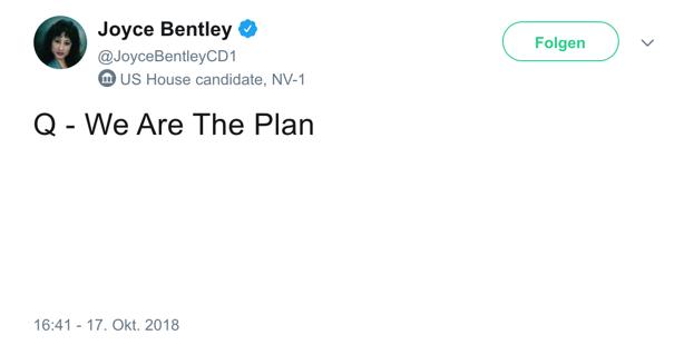 Joyce Bentley QAnon tweet