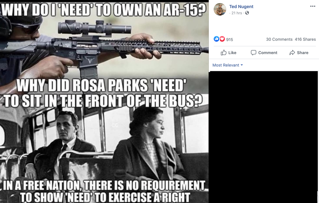 Nugent compares owning an AR-15 to Rosa Parks sitting at the front of the bus