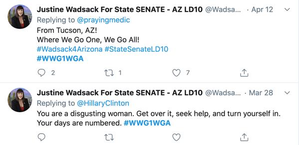 Justine Wadsack QAnon Twitter