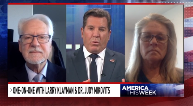 Sinclair's Eric Bolling interviewing Larry Klayman and Judy Mikovits