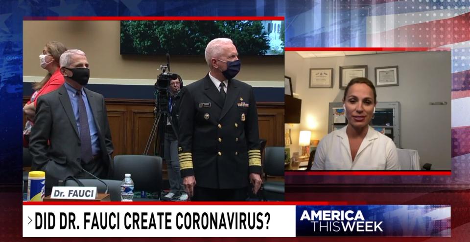 "Sinclair graphic: ""Did Dr. Fauci create coronavirus?"""