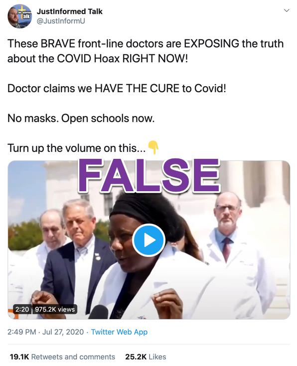 JustInformed Talk coronavirus video