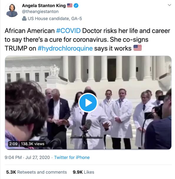 Angela Staton-King coronavirus video