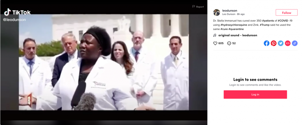 TikTok coronavirus video1