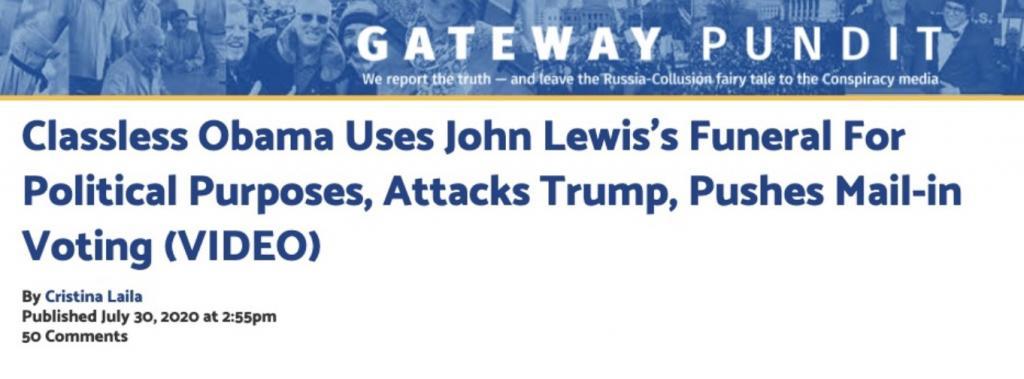 Gateway Pundit Obama eulogy