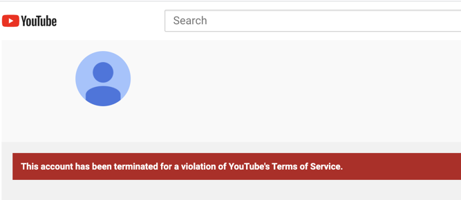 Bigtree terminated from YouTube