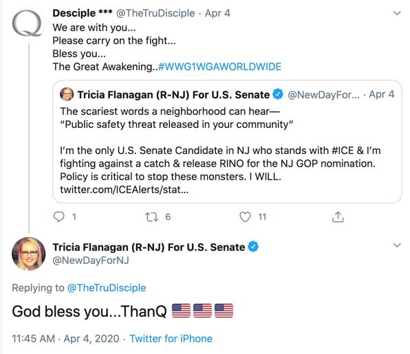 Tricia Flanagan QAnon Twitter