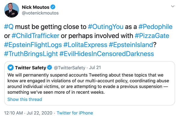 Nick Moutos QAnon Twitter