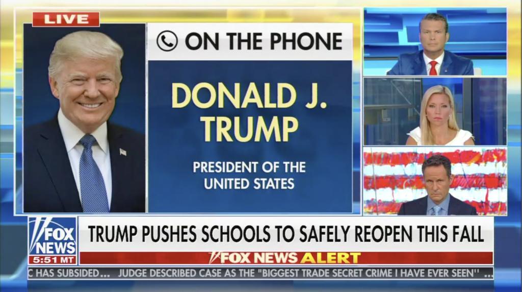 Fox & Friends Trump Schools COVID 8/5/20