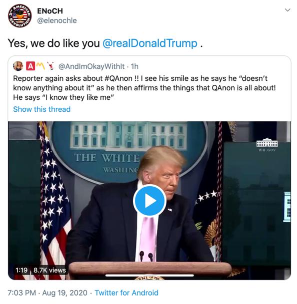 @elenochle Trump response