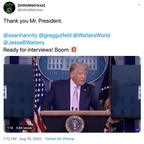 @intheMatrixxx Trump response