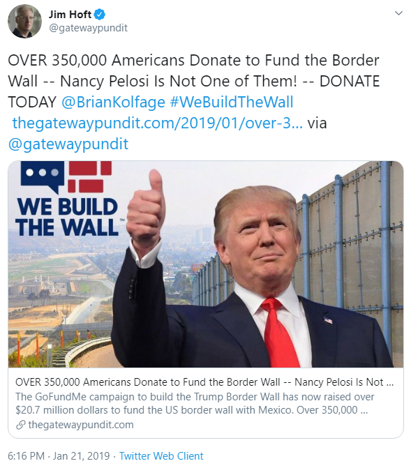 Jim Hoft and We Build the Wall tweet image