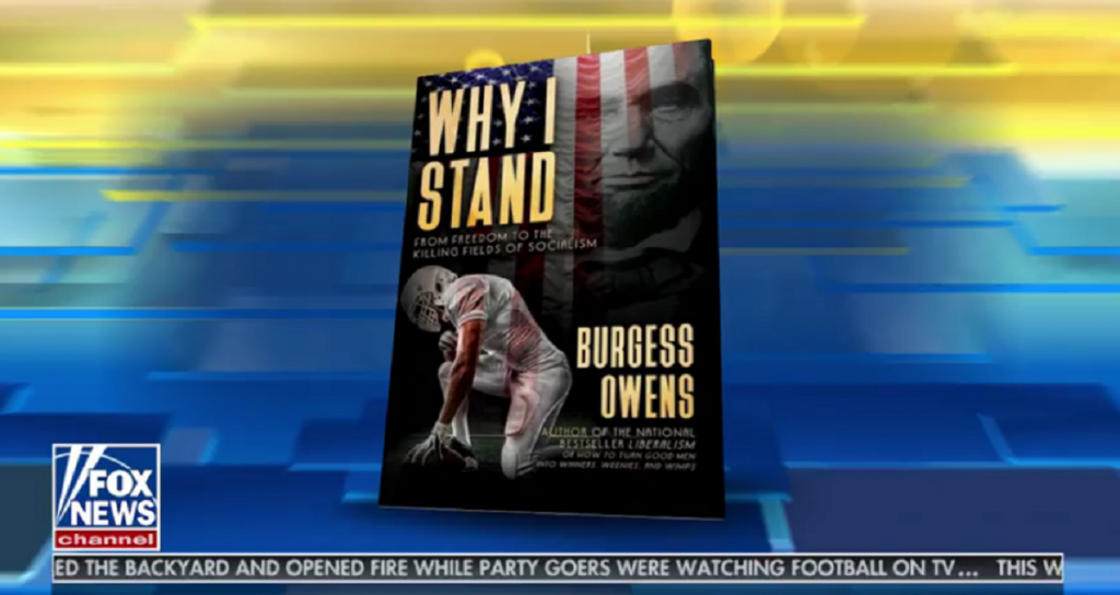 The book cover of Burgess Owens' Why I Stand on Fox News