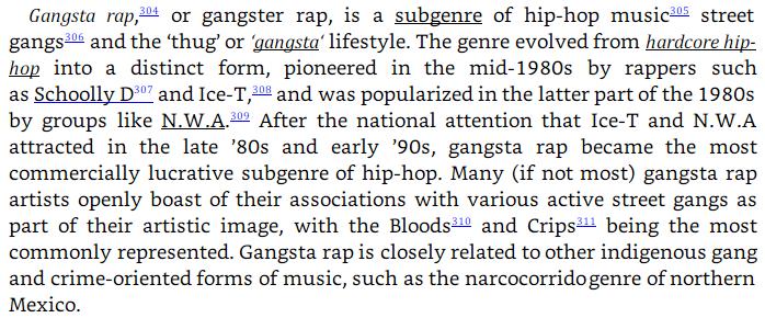Burgess Owens plagiarism: gangsta rap image text