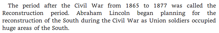 Burgess Owens plagiarism: Lincoln and Reconstruction image text