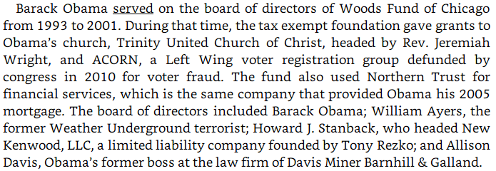 Burgess Owens plagiarism: Woods Fund image text