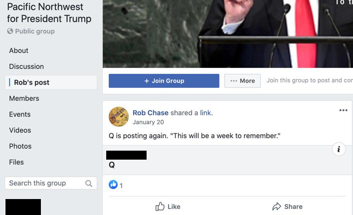 Rob Chase QAnon Facebook