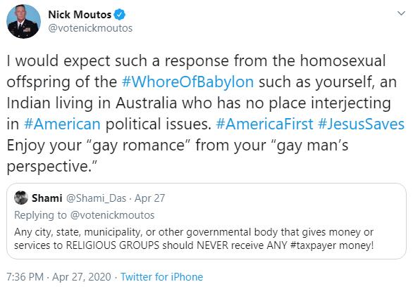 Nick Moutos: Offspring tweet image