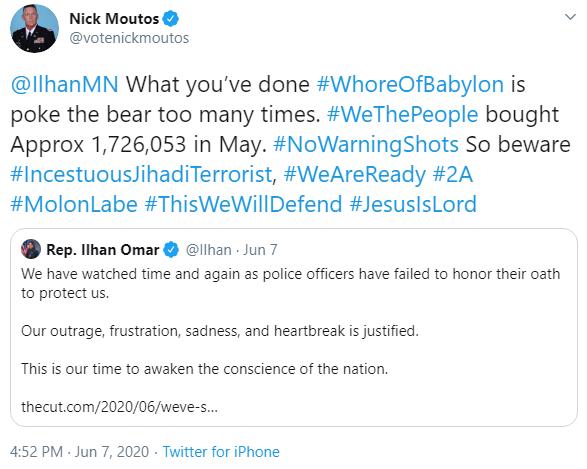 Nick Moutos: Poke the bear tweet image