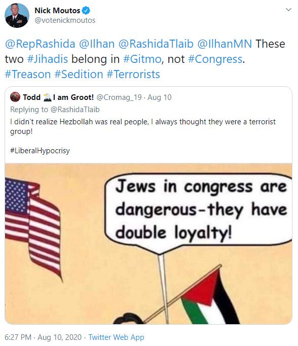 Nick Moutos: Treason tweet image