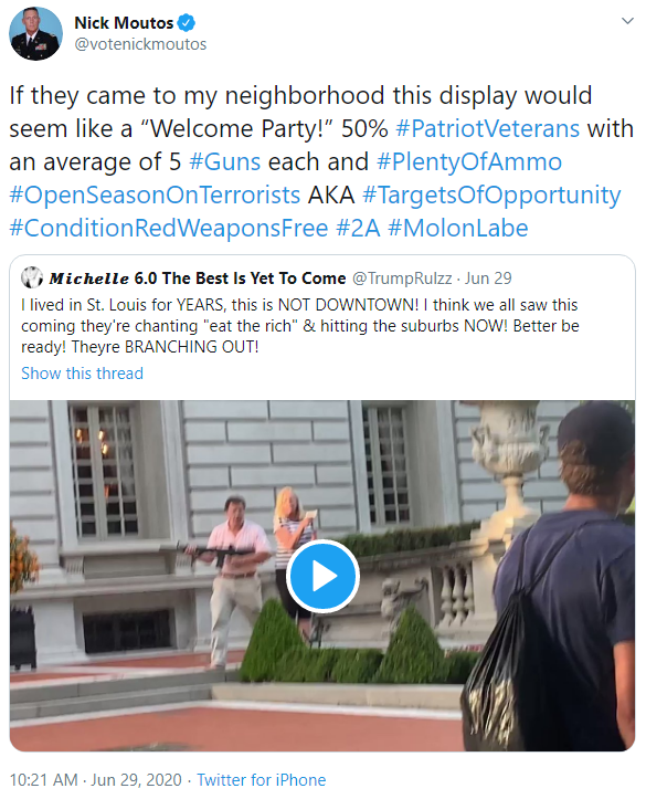 Nick Moutos: Unprovoked tweet image