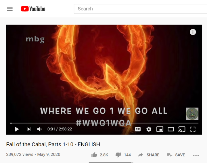 YouTube screenshot of QAnon primer video