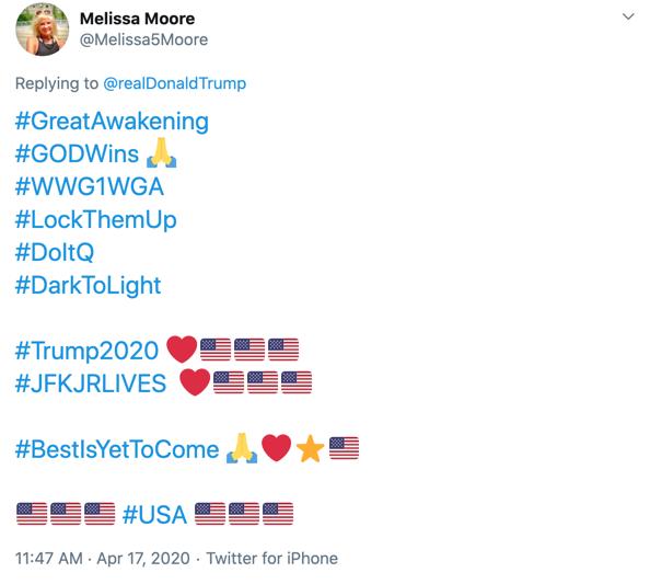 Melissa Moore QAnon Twitter