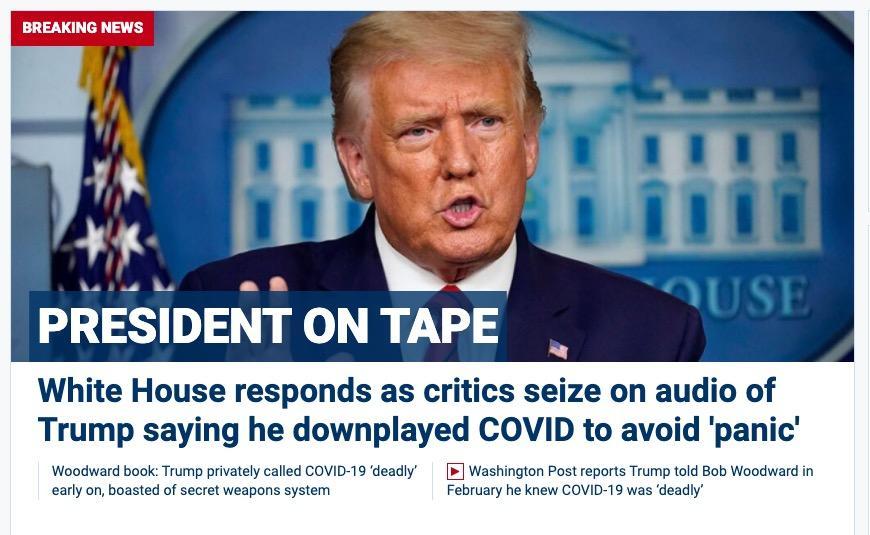 Fox News dot com 9/9/20 Trump Woodward