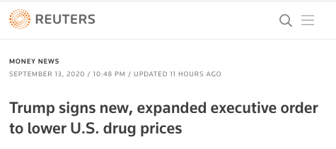 Reuters headline