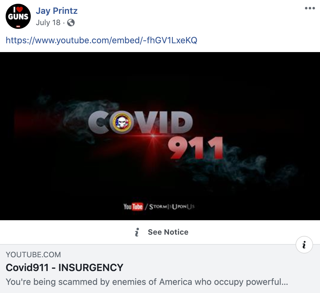 NRa board member Jay Printz shares video from one of the biggest QAnon accounts
