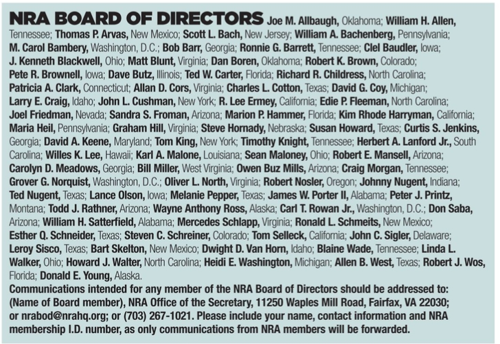 America's 1st Freedom magazine lists 2017 board of directors results
